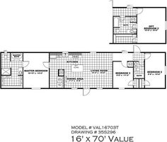 Clayton | Home Floor Plan | Manufactured Homes, Modular Homes, Mobile Homes  | Home Layouts | Pinterest | Single Wide And House