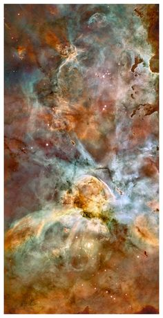 """Carina Nebula from Outer Space Wall Mural printed on Aluminum with 8 panels 16"""" x 16"""" final image is 32"""" x 64""""."""
