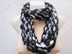 Scarf infinity  Necklace scarf  Colorful  Long  winter  by nurlu, $22.00