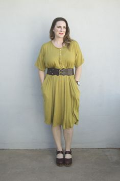 Get this fun and comfy lounge dress pattern for free and sew one up to use a s a nightgown, house dress or just an easy one-piece outfit! Sewing Patterns Free, Dress Patterns, Free Pattern, One Piece Outfit, Sewing Clothes, Dress Sewing, Trendy Dresses, Night Gown, Knit Dress
