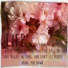 #love #life #fall #short #regretnothing