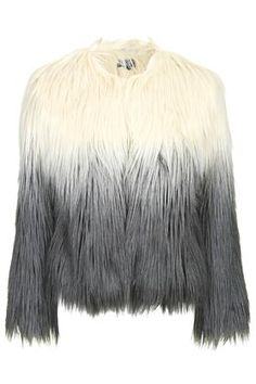 Ombre Faux Fur Jacket