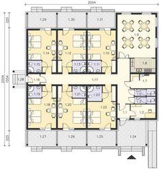 Plano de hotel pequeño