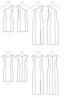 M7283 Misses' /Miss Petite Dresses