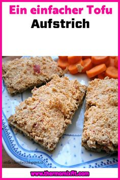 Ein einfacher Tofu Aufstrich Tofu, Banana Bread, Fitness, Desserts, Spreads, Dessert Ideas, Kuchen, Food Food, Postres