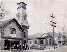 The south end of Albert Street was once a focal point for public events and civic activities in Waterloo. Waterloo Ontario, Kitchener Ontario, Gone Days, Fire Hall, Twin Cities, Fire Department, Newfoundland, The Past, Scenery