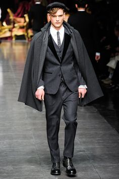 Everything but the cap Dolce & Gabbana fall 2012 collection in Milan