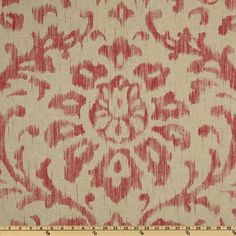Braemore Henry Ikat Rouge - Discount Designer Fabric - Fabric.com