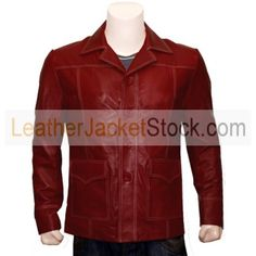 Fight Club Red Original Leather FC Jacket is an inspired design of the leather jacket worn by Brad Pitt in the movie fight club that gave him an eye catching look.