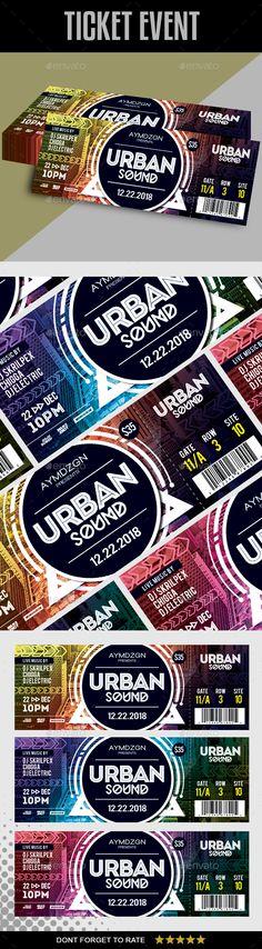 #Event #Ticket - Cards & Invites Print Templates