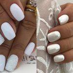15  ιδέες για λευκό μανικιούρ! Η πιο σικ & trendy επιλογή του καλοκαιριού! Feta, Nails, Beauty, Finger Nails, Ongles, Beauty Illustration, Nail, Nail Manicure