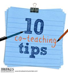 CO-TEACHERS: use these 10 practical tips to improve your partnership and help all kids learn. | teaching, education, special education