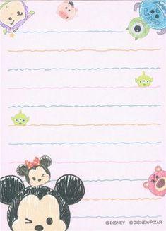 small cute memo pad with Disney Tsum Tsum characters Fundo Tsum Tsum, Mickey Tsum Tsum, Mickey Minnie Mouse, Envelopes Bonitos, Tsum Tsum Wallpaper, Scrapbook Da Disney, Wallpaper Fofos, Cute Envelopes, Memo Notepad