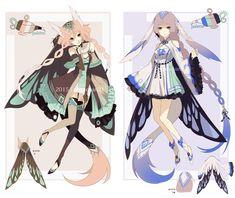[ CLOSED ] Genie Adoptable 2 and 3 by Piku-chan21.deviantart.com on @DeviantArt