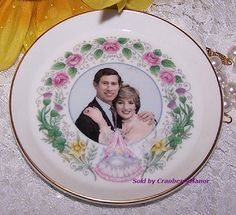 Vintage Crown Staffordshire Princess Diana Prince Charles Prince William Commemorative Dish C284