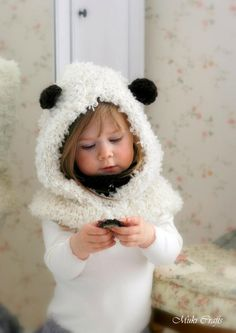 KNITTING PATTERN sheep hooded cowl Mouton (baby, toddler, child, adult sizes)