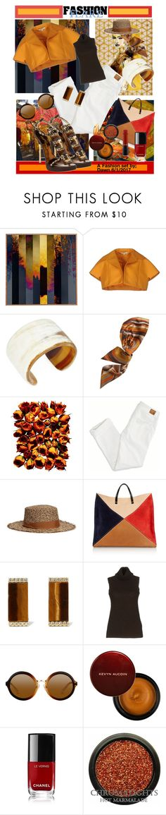"""""""The World Traveler"""" by dawn-lindenberg ❤ liked on Polyvore featuring Dot & Bo, Carven, Arthur Marder Fine Jewelry, Eugenia Kim, Giorgio Armani, American Eagle Outfitters, Sensi Studio, Dsquared2, Clare V. and Kevia"""