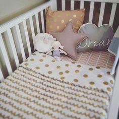 Modern Crib Bedding - Blush Chevron Crib Sheet - Modern Girl Nursery by ModFox on Etsy Liapela.com