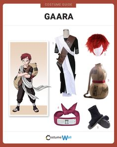 The best costume guide for dressing up like Gaara. Cosplay the bad guy turned good guy from the Japanese anime and manga series, Naruto. Gaara Cosplay, Naruto Cosplay Costumes, Got Costumes, Cosplay Costumes For Sale, Anime Costumes, Anime Cosplay, Costume Ideas, Anime Inspired Outfits, Anime Outfits