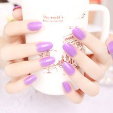 The small round head thin soft false nails more submissive more comfortable(China (Mainland))