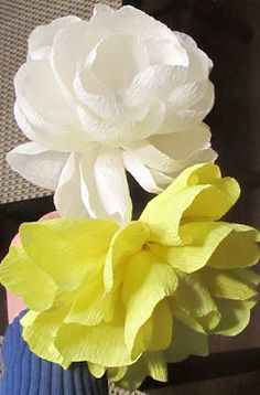 How to Make Crepe Paper Flowers: The REAL Tutorial  :  this is NOT for kids crafts, but so pretty!