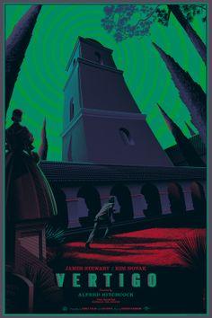 Vertigo, Hitchcock, 1958 Poster by Laurent Durieux.