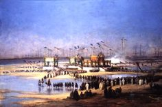Port Said. The festival of the inauguration of the Maritime Canal / by Edouard Riou (1870)