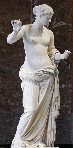 "Aphrodite figure, known as ""The Venus of Arles"" - Hymettus marble, Roman imperial period, circa 1st c. BC"