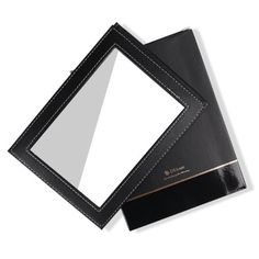 Amazon.com : DUcare(TM) Black Folding Cosmetics Mirror, Professional Portable Multi-used Makeup Mirror with Leather Case : Beauty