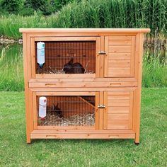 Králíkárna dvoupatrová 116x116x65cm. Krásné bydlení pro králíky. Doprava zdarma.