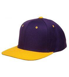 e4836f7db40e5 Original Yupoong Two-Tone Pro-Style Wool Blend Snapback Snap Back Blank Hat  Baseball Cap 6098MT Purple   Gold CZ1181RD1VL