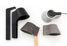 clip: a fiber cement outdoor light by rainer mutsch - designboom | architecture & design magazine
