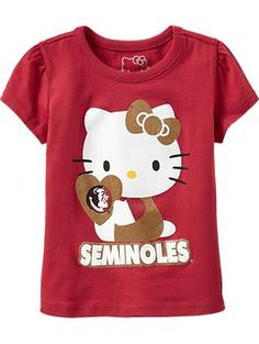 Mixed with football babylegs and this girl is ready for football season. Fsu Shirts, Hello Kitty Clothes, Garnet And Gold, Florida State Seminoles, Shop Old Navy, Our Girl, First Love, Stuff To Buy, Kid Stuff