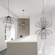 Lampada a sospensione / moderna / indoor / in acciaio - PARACHUTE by Nathan Yong - Ligne Roset Ligne Roset, Ceiling Fixtures, Ceiling Lamp, Light Fixtures, Ceiling Lighting, Deco Luminaire, Luminaire Design, Pendant Lamp, Pendant Lighting
