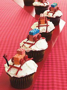 train cupcakes - so easy