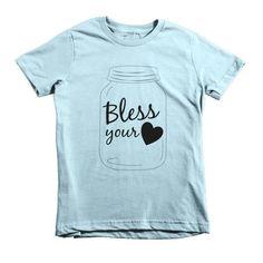 Bless Your Heart (Mason Jar) Kids' T-Shirt