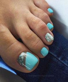 40 Chic And Trendy Toe Nails Art Ideas To Try In 2020 Summer - Hey! Pretty babies, summer is here. Are you ready for cute, trendy, and chic toes nail - Gel Toe Nails, Feet Nails, Gel Toes, Pink Toe Nails, Pastel Nails, Gold Nails, Blue Nails, White Nails, Glitter Nails