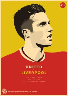 Match poster: Manchester United vs Liverpool, 14 December 2014. Designed by @manutd.