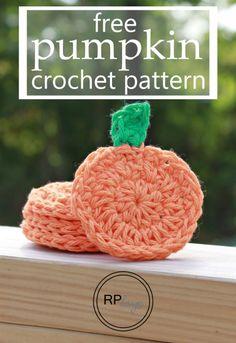 Fall Pumpkin - Free Crochet Pattern by Rescued Paw Designs #Halloween #diy…