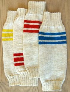 Whit's Knits: Tube Sock Leg Warmers - The Purl Bee - Knitting Crochet Sewing Embroidery Crafts Patterns and Ideas! Knitting Patterns Free, Knit Patterns, Free Knitting, Free Pattern, Crochet Socks, Knitting Socks, Knit Crochet, Irish Crochet, Baby Leg Warmers