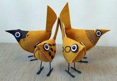 Gold Pip Bird - Wool Felt