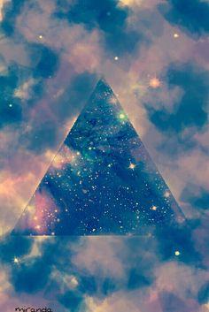 Galaxy triangle iphone wallpaper
