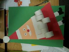 christmas in the classroom | Christmas in the classroom. Construction paper Santa! | School