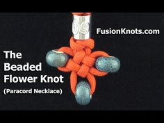 How to Make a Beaded Flower Knot (Paracord) Necklace by TIAT