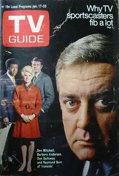 TV Guide_Jan 17..'Ironside'...Raymond Burr, Don Galloway, Don Mitchell & Barbara Anderson