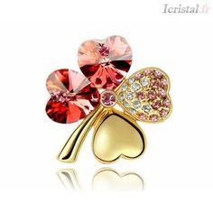 Btime NEW Brooches Classic Brooch Pins women Accessories Jewelry Fashion gift Four Leaf Clover Crystals From Swarovski Crystal Brooch, Crystal Jewelry, Women Accessories, Jewelry Accessories, Diamond Bracelets, Leather Bracelets, Amber Bracelet, Jewelry Sets, Fle