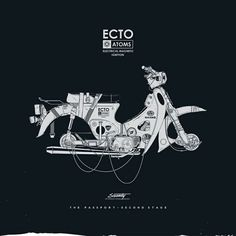 Creative Posters, Silence, Television, Illustration, and Poster image ideas & inspiration on Designspiration Honda Cub, Motorcycle Posters, Motorcycle Art, Bike Art, Ligne Claire, Car Illustration, Ex Machina, Graphic Design Typography, Logo Design