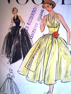 04d52402b Vintage 1950s Vogue Sewing Pattern 9180 FF 34 Rare by FoxVintageUk 1950s  Dress Patterns