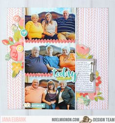 "Noel Mignon March 2016 ""Picture Perfect"" Classic Kit Scrapbook Layout by Jana Eubank"