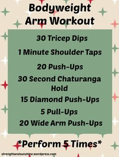 Bodyweight Arm Workout